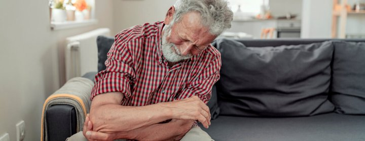Man with pain in his arm