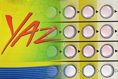 Yaz logo and pills