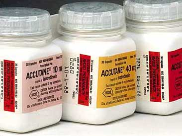 Accutane 10, 40 mg bottles