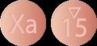 Xarelto anticoagulant (blood thinner) pill