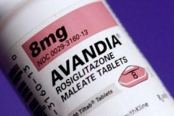 Avandia drug bottle