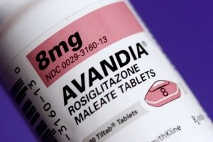 Avandia drug bottle
