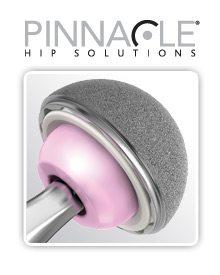 Depuy Pinnacle Hip Logo and hip implant