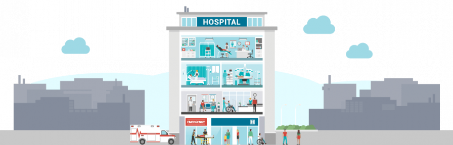 Hospital illustration