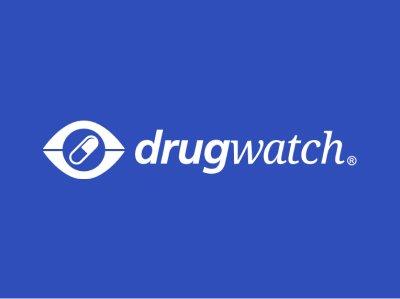 Drugwatch Logo on Blue Background