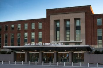The main entrance of FDA building