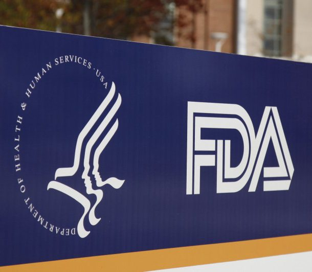 Sign of the U.S. Food and Drug Administration