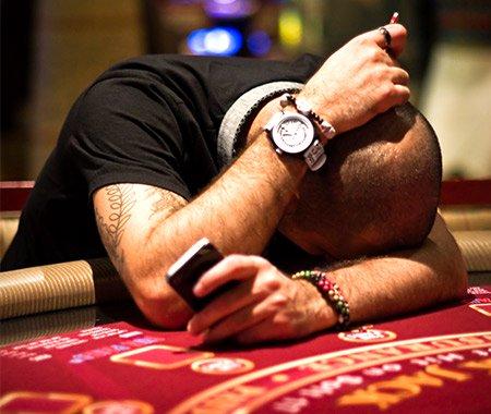 man upset at gambling loss