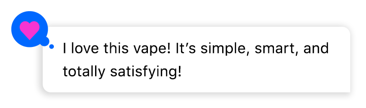 Chat bubble about vaping