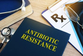 Medical book on antibiotic resistance bacteria