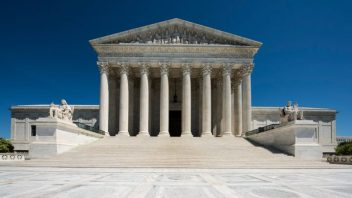 Front view of the U.S. Supreme Court