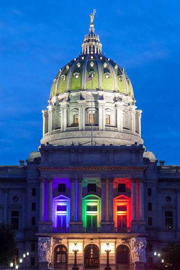 Pennsylvania Capitol After The Supreme Court Ruling On Gay Marriage