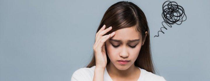 woman in mental distress