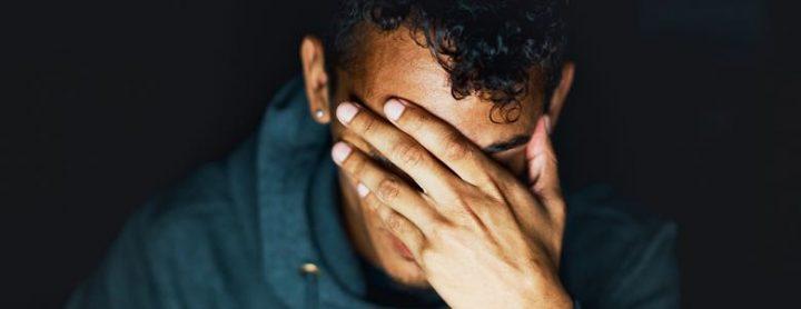 male in mental distress