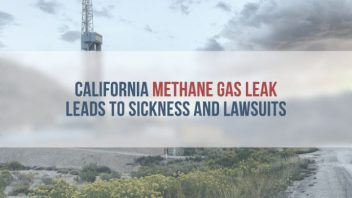 Methane burn off on California coast