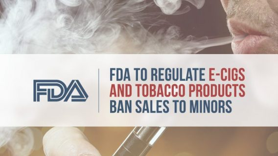 FDA Bans E- Cigs to Minors, Tightening Tobacco Regulations