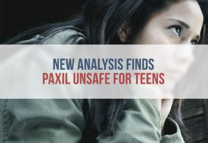 Study Shows Paxil Puts Teens At RIsk