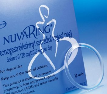 Box of NuvaRing birth control device