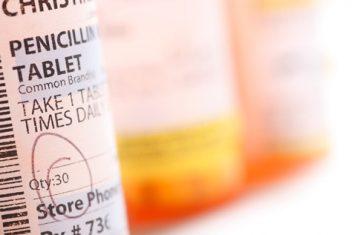 Penicillin Bottle In Focus