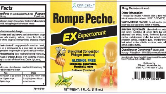 Company Waited 2 Months After FDA Warning to Recall Rompe Pecho Cough Syrup