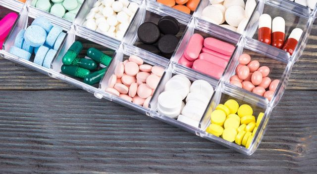 Pills Organized in Tray